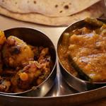 ナタラジャ - ディナーセット:ダルカレーと野菜カレー