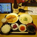 70053241 - 朝定セット1,080円、瓶ビール529円