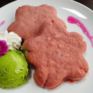 【人気】選べる!米粉のさくら型スフレパンケーキ♪