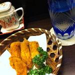 幸せごはん - 夜ご飯も食べて来た!手羽カラ、カレー風味で美味!