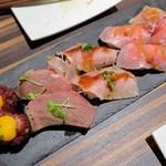 肉バル×イタリアン RIVIO - 肉寿司10貫盛り