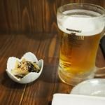 串ザンマイ - 付け出し&ビール
