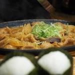 串ザンマイ - ホルモン鉄板焼きアップ