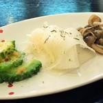 利休の朝顔 - 料理写真:前菜その1