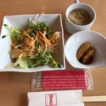 やさい中華 四川菜 - 極 麻婆豆腐定食の最初に出てくる。