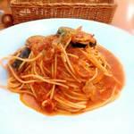 プライムイタリアン - Aランチ 茄子とベーコンのトマトソース