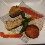 ビストロ アギャット - すずきとホタテ夏野菜