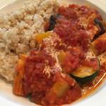 旬穀旬菜カフェ - ライスは白米と玄米から選べました。
