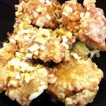 中国料理 天蘭 - 鶏唐揚げ。カラカラ、サクサク。ボリューム(^-^)