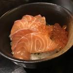 炉端dining ろい - サーモン&イクラ親子丼!