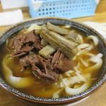 ふもとや - 肉きんうどん500円(内税)。