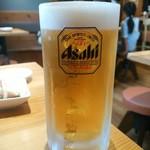 濱松たんと - 生ビール大 飲みごたえがあります(^_-)