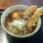 立食いそば・うどん すみちゃん - ちくわ天そば(400円)+生卵(70円)