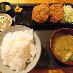 あおやぎ - メンチカツご飯セット 820円