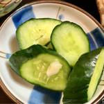 キッチン食堂 城山 - きゅうりの漬物…
