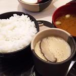 70090740 - 1707_Washoku Sato-和食さと- Central Park_ごはんセット(ごはん、みそ汁、茶わん蒸し)@26,800Rp
