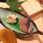 四季の味 哲粋 - 鯖のへしこと豆腐のぬか漬け