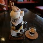 新木珈琲店 - アフォガードパフェ