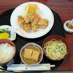 萬葉 - 料理写真:鶏唐揚げ御膳