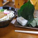 寺坂 - 料理写真:うどんと柿の葉寿司のセット