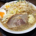 麺屋 輝 - 輝らーめん 麺・野菜普通盛り