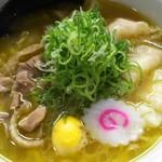 新旬屋 麺 - 金の鶏中華・海老ワンタン(やまがた地鶏使用)1030円