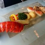 ビストロ ポップコーン - オマール海老と白身魚のポアレ