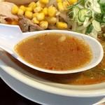 らぁめん 夢のや - 味噌のスープ
