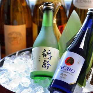 お気に入りの一杯を見つけて!種類豊富な日本酒を用意