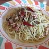 スパゲッテリア アリオ - 料理写真:キノコとベーコンのペペロンチーノ