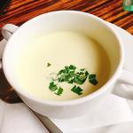 70114665 - 枝豆の冷製スープ ランチに+¥150