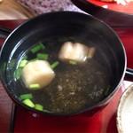 そば処福寿 - 親子丼とセットのお吸い物