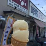 たこ八 - 料理写真:峠店のアイス、ダブル。ナント110円!