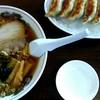 Hotori - 料理写真:醤油ラーメンと餃子1050円