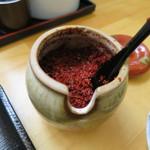麺'ズ 冨士山 - とうがらし主体のすりだね。