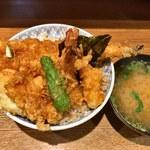 天丼 金子半之助 - 江戸前天丼 味噌椀
