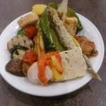 大扇食堂 - パスタランチの前菜盛り合わせ