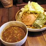 井之上屋 - 今日も醤油つけ麺+キャベツ