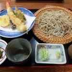 穣庵 - 天然えびと野菜の天ざる