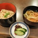沖縄郷土料理 舟蔵 - 御飯・香の物・汁物