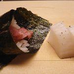 すし乾山 - 寿司懐石 浜風 6,000円 (細巻き トロたく) 2017年7月