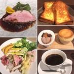 Sincere + - メイン&デザート&ブリオッシュ&コーヒー&3皿目( ´艸`)