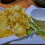 一根六菜 - 鱧の天ぷら