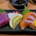 一根六菜 - お造り3種(890円)