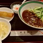 shanhaishukaijinhanten - 207.7月 ジャージャー麺セット。800円。