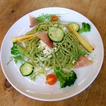 サンデーブランチ - 夏野菜で彩られたジェノベーゼ♪