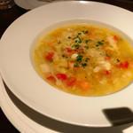 70136418 - 野菜だけで作るミネストローネ・パルミジャーノ風味