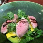 ランデヴー・デ・ザミ - 仏産鴨のスモーク 小菊なんきん コリンキー サラダぞ