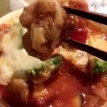 南国酒場リバーサイド - ハンバーグとズッキーニとトマトのチーズ焼きアボカドのせ