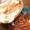 ニューデリ - 料理写真:茄子とチキンカレー@950円 ナン @300円